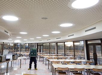 土岐市内 研究施設にて 食堂内LED化工事