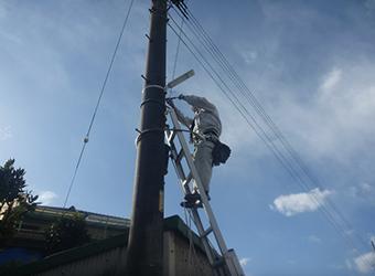 土岐市内 LED防犯灯の取付け作業
